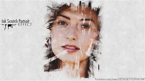 tutorial lightroom portrait ink scratch portrait effect photoshop tutorial