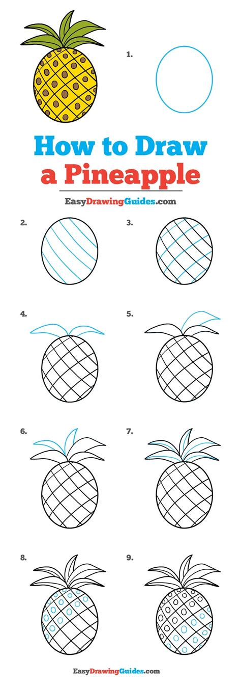 how to start to doodle how to draw a pineapple really easy drawing tutorial