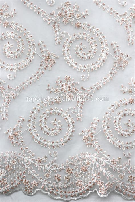 net french embroidery beaded sequin lace fabric for ladies suit 2016 ivory bridal beaded lace appliques high fashion