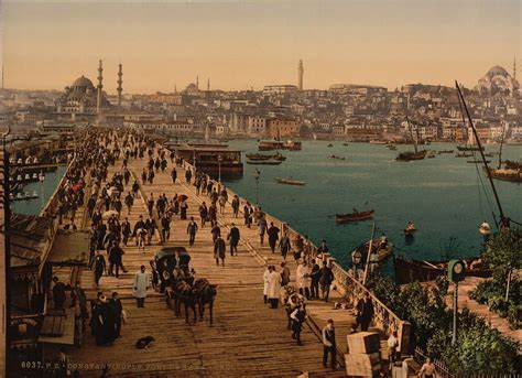 Istanbul In The Time Of Ottoman Empire Bridges Across Ottoman Empire Istanbul