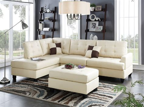beige leather sectional sofa chaise ottoman hot sectionals