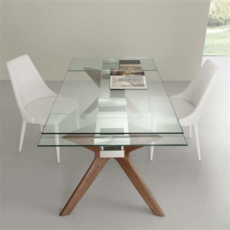 tavolo acciaio e vetro tavolo moderno allungabile in acciaio inox e vetro