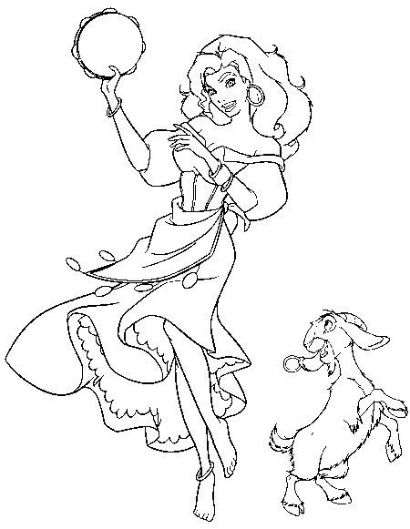 disney esmeralda coloring page the hunchback of the notre dame coloring pages