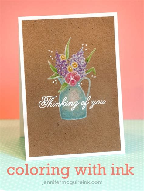 By Jennifer Mcguire Ink   video coloring with pigment ink mama elephant blog hop