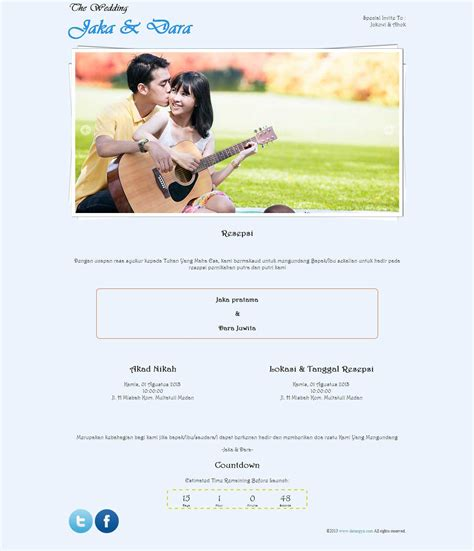 membuat undangan pernikahan online free tema undangan online curly free cantik dengan tulisan