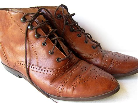 vintage oxford ankle boots