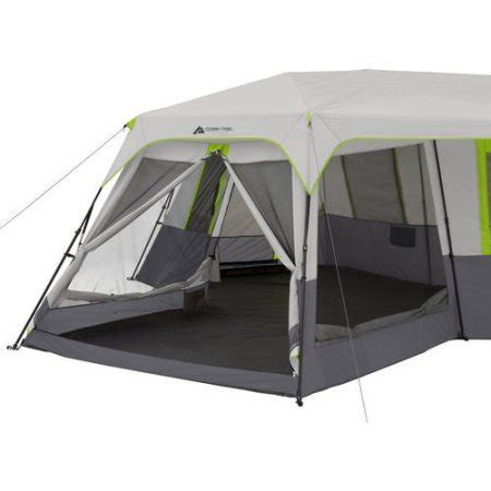 ozark trail 12 person instant cabin tent with screen room ozark trail 12 person 3 room instant cabin tent with screen room green cing companion