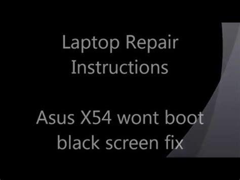 Asus Laptop Black Screen Error how to fix black screen problem on asus laptop