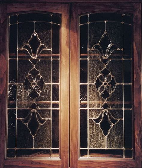 Stained Glass Kitchen Cabinets by Glass Door Cabinets Inserts Frosted Carved Custom Glass