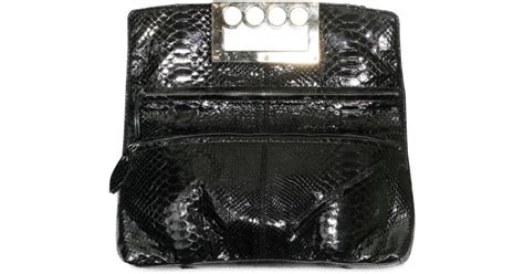 New Pauric Sweeney 08 Bags by Lyst Pauric Sweeney Glossy Python Four Ring Handle