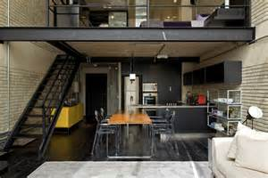 loft style home plans industrial loft design with brick like walls digsdigs