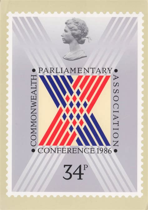 Gb New High Value Definitive 17 Sept 1985 Fd Cover the commonwealth parliamentary conference 1986 collect