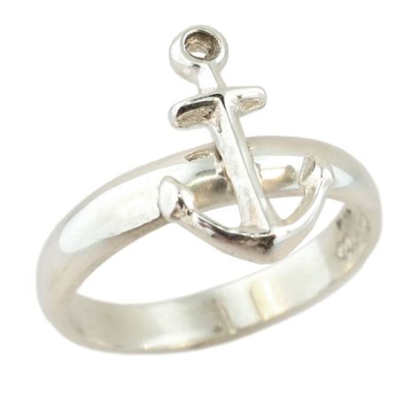 sterling silver anchor ring cameron jewellery