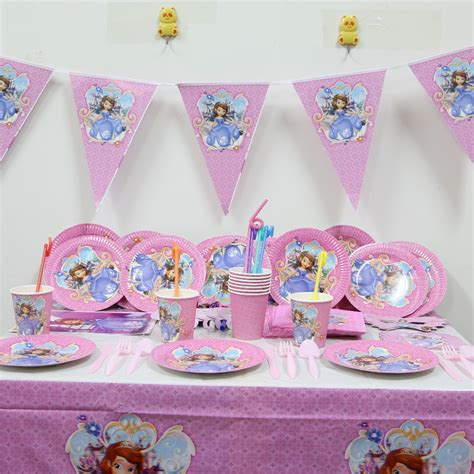 Dishes For Baby Shower by 132pc Lot Sofia Princess Birthday Tablecloth Baby