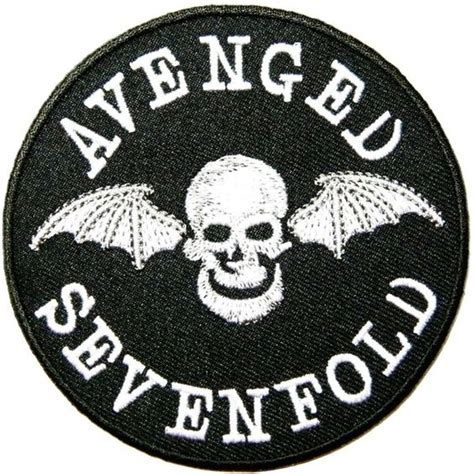 Avenged Sevenfold Metal Band avenged sevenfold metal rock band logo patch