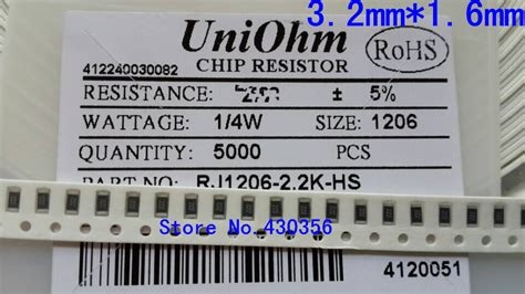 500pcs 1206 Smd Resistor 1 2 2 Ohm popular 270 ohm resistor buy cheap 270 ohm resistor lots
