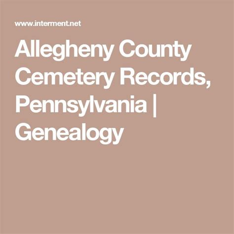 Allegheny County Records 17 Best Images About Genealogy Pennsylvania On