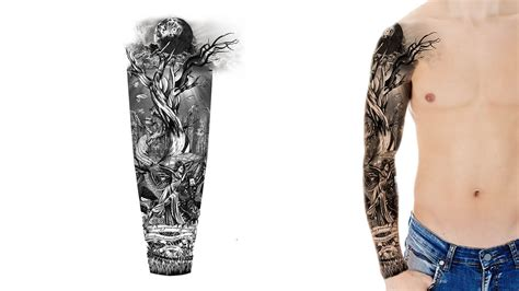tree sleeve tattoo designs custom sleeve designs custom design