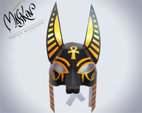 printable anubis mask anubis mask anubis costume mask egyptian mask egyptian