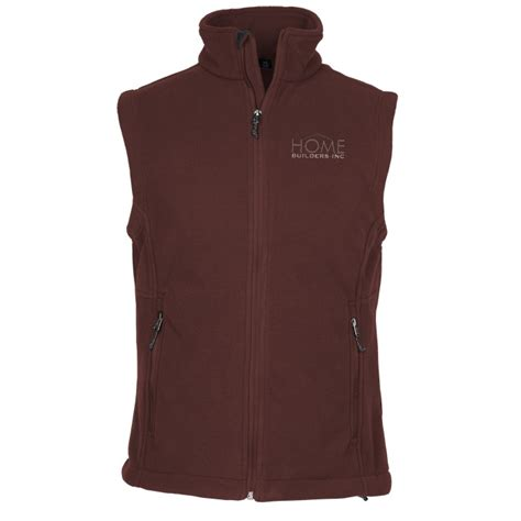 imprintcom crossland fleece vest mens