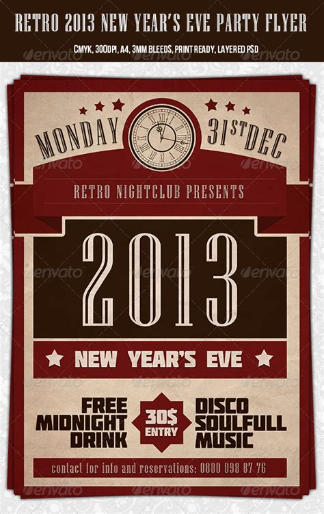 dafont molot retro 2013 new year party flyer template graphicriver