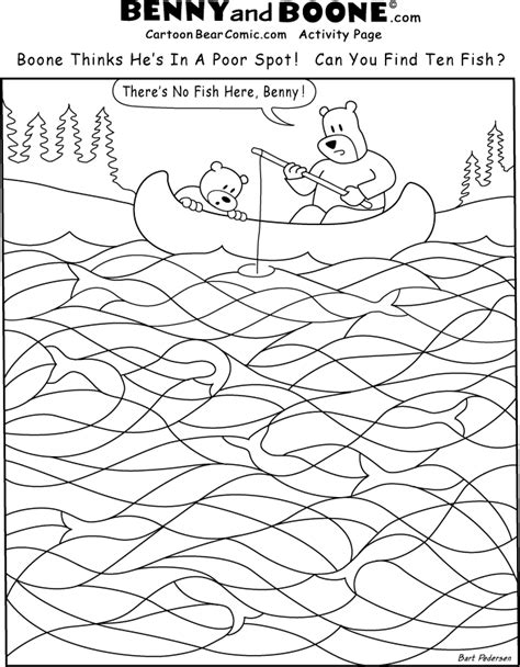 Bear Coloring Activity Page Activity Coloring Pages