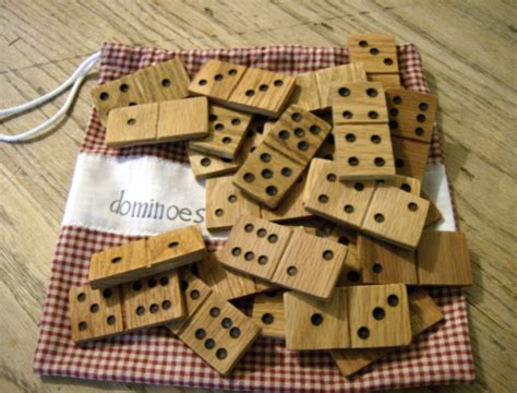 Handmade Dominos - wooden dominoes tutorial