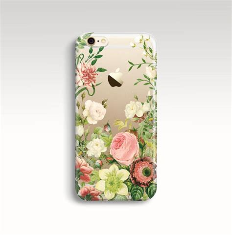 Softcase Flower Gril For Iphone5 iphone 7 plus floral iphone 6s clear rubber iphone