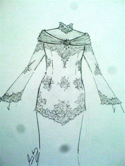 sketsa desain dress batik kebaya sketsa national dress kebaya indonesia pinterest