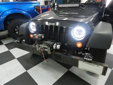 jeep headlights at night westminster client gets jeep wrangler headlight upgrade