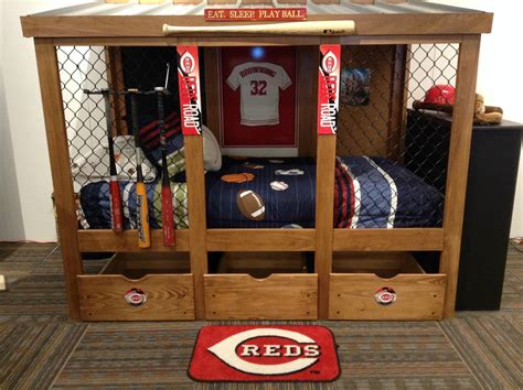 baseball room baseball dugout bedroom designs we thought these rope ls were interesting room