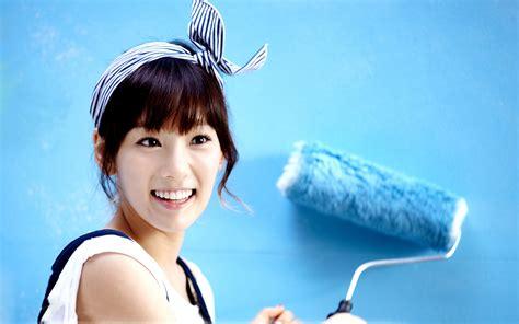 cute korean hd wallpaper korean girl wallpapers blue wall hd wallpapers