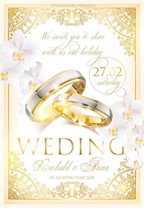 freepsdflyer the wedding celebration free flyer