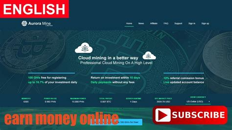 Bitcoin Mining Cloud Computing by Auroramine Bitcoin Cloud Mining Free 100 Gh S Paying Or