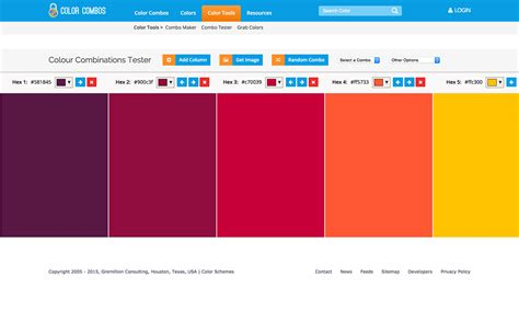 color combo generator best color palette generators html color codes