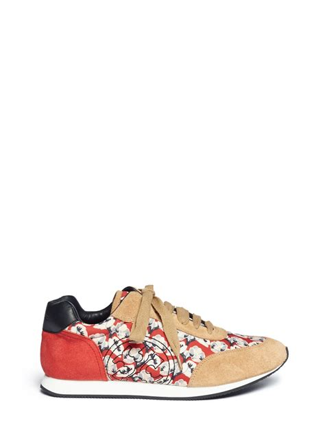 floral sneaker burch delancy floral print sneakers in multicolor