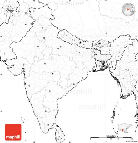Blank Outline Political Map Of India by Blank Simple Map Of India No Labels