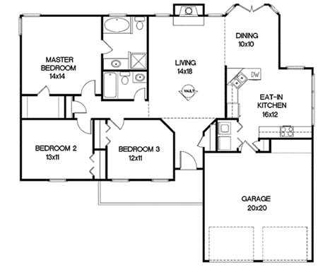home designs and floor plans newcastle falls ranch home plan 013d 0006 house plans and more