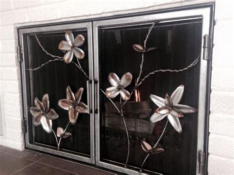 custom flower fireplace doors by wacoavenue fabrication