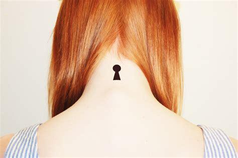 keyhole tattoo on neck fake tattoos scandinavian temporary tattoos keyhole