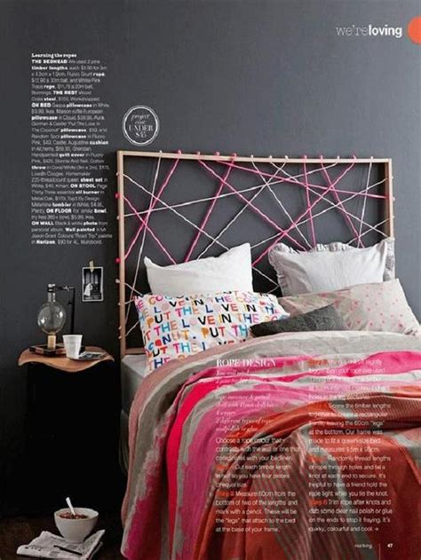 rope headboard gorgeous diy headboards for a charming bedroom