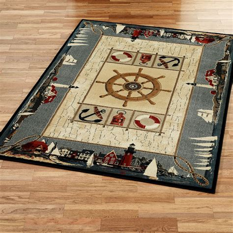 Nautical Area Rug Seascape Nautical Area Rugs