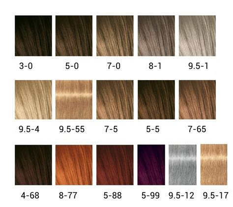 igora color chart schwarzkopf igora semi permanent expert mousse 100ml the