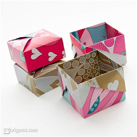 Simple Box Origami - origami boxes by robin glynn and sprung go origami