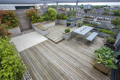 garten terrasse mit dach roof terrace design penthouse apartment king s cross