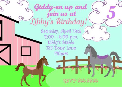 printable birthday invitations horse theme free printable horse party invites horse party