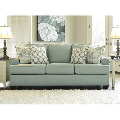 ashley furniture seafoam couch ashley daystar fabric sofa with cushions in seafoam 2820038