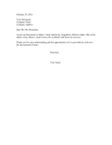 Resignation Letter Due To Disability Miscellaneous Resignation Letters