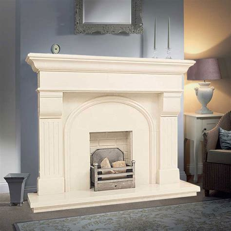 Marble Fireplaces Ireland by Shelbourne In Ivory Pearl Marble Fireplaces Ireland