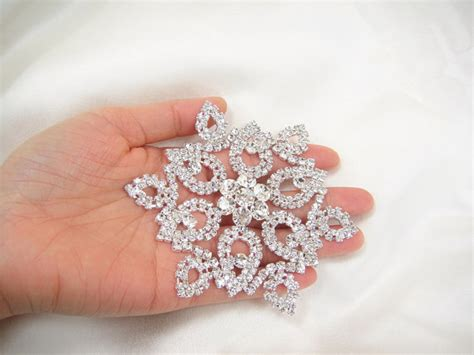 diamante applique snow flake diamante applique rhinestone applique bridal